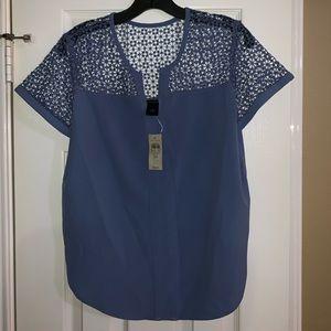 NWT Ann Taylor blue top